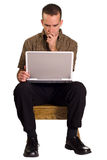 Man Using Computer Royalty Free Stock Photography