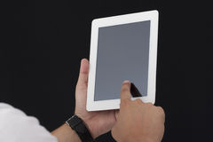 Man using a Digital Tablet Royalty Free Stock Image