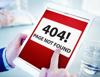 Man Using Digital Tablet Page Not Found royalty free stock image