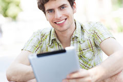 Man using digital tablet Stock Photos