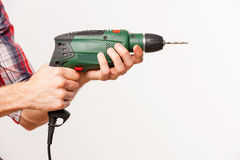 Man using drill. Stock Images