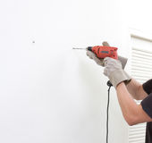 man using an electric screwdriver Stock Photography