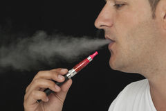 Man using Electronic Cigarette Royalty Free Stock Photo