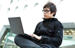 Man using laptop Royalty Free Stock Photo