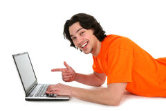 Man using laptop Stock Photos