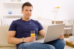 Man using laptop Stock Photography