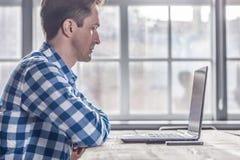 Man using laptop Royalty Free Stock Photos