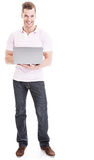 Man using laptop Royalty Free Stock Photos