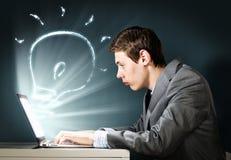 Man using laptop Stock Photos