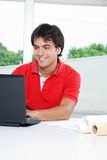 Man Using Laptop Stock Image