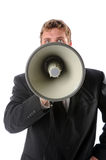 Man Using Megaphone Royalty Free Stock Photography