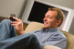 Man using mobile Royalty Free Stock Image