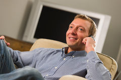 Man using mobile Royalty Free Stock Photos