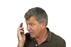 Man using the mobile Royalty Free Stock Photography