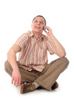 Man using a mobile phone Royalty Free Stock Images