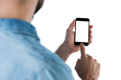 Man using mobile phone Stock Photography