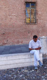 Man using mobile phone Royalty Free Stock Images
