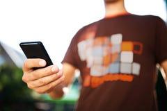 Man using mobile smart phone Stock Photos