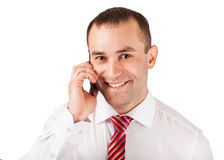 Man using mobile smart phone Royalty Free Stock Photography