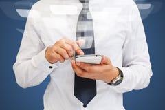 Man using mobile smart phone Stock Photo
