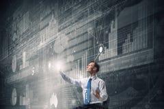 Man using modern technologies Stock Images