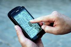 Man using navigation system Stock Photos