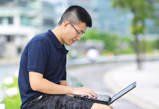 Man using notebook computer Stock Photos