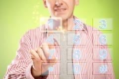Free Man Using Numeric Pad Royalty Free Stock Image - 22631936