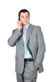 Man using phone Stock Photo