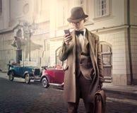 Man using phone royalty free stock photo