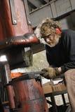 Man using power hammer. Stock Photography