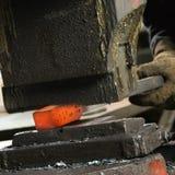 Man using power hammer. Stock Photo