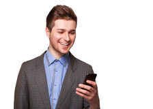 Man using smart phone Royalty Free Stock Photos