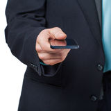 Man using smart phone Royalty Free Stock Image