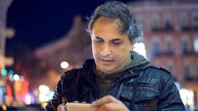 Man using smart phone stock video