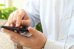 Man Using Smartphone Stock Images