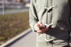 Man using smartphone Stock Photos
