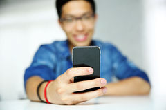 Man using smartphone. Stock Photos