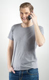 Man using smartphone Royalty Free Stock Image
