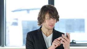 Man Using Smartphone. 4k  high quality stock footage