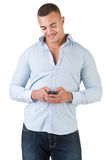 Man Using a Smartphone Royalty Free Stock Photo