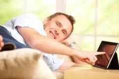 Man using tablet Royalty Free Stock Photo