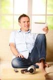 Man using tablet Royalty Free Stock Image
