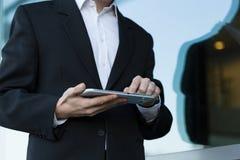 Man using tablet Royalty Free Stock Photos