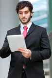 Man using a tablet Royalty Free Stock Photography