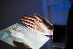 Man using tablet Stock Image
