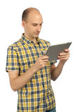 Man using a tablet computer Stock Photography