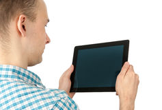 Man Using Tablet Computer Royalty Free Stock Images