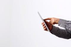 Man using tablet computer Royalty Free Stock Photo