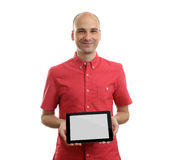Man Using Tablet Computer Royalty Free Stock Photography